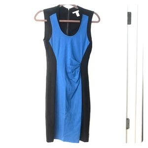 Kenneth Cole New York Cobalt Blue + Black Dress